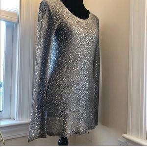 Sparkly Silver Mini Dress